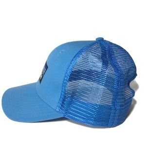 5d0efbe7040 Patagonia Accessories - NWOT PATAGONIA Trucker Hat Light Blue Logo Front